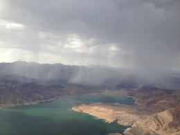 Photo of Las Vegas Ultimate Grand Canyon 4-in-1 Helicopter Tour Rain over Lake Mead