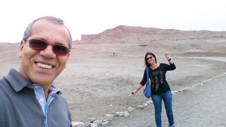 Me and my wife in Temple of Pachacamac