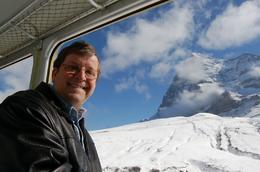 This is me with the view from the train, Steve F - October 2009