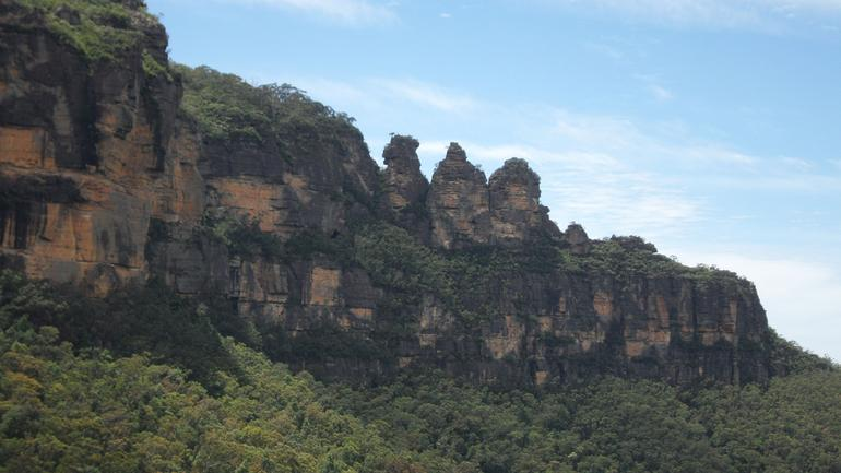 View of Three Sisters from Railway - Sydney