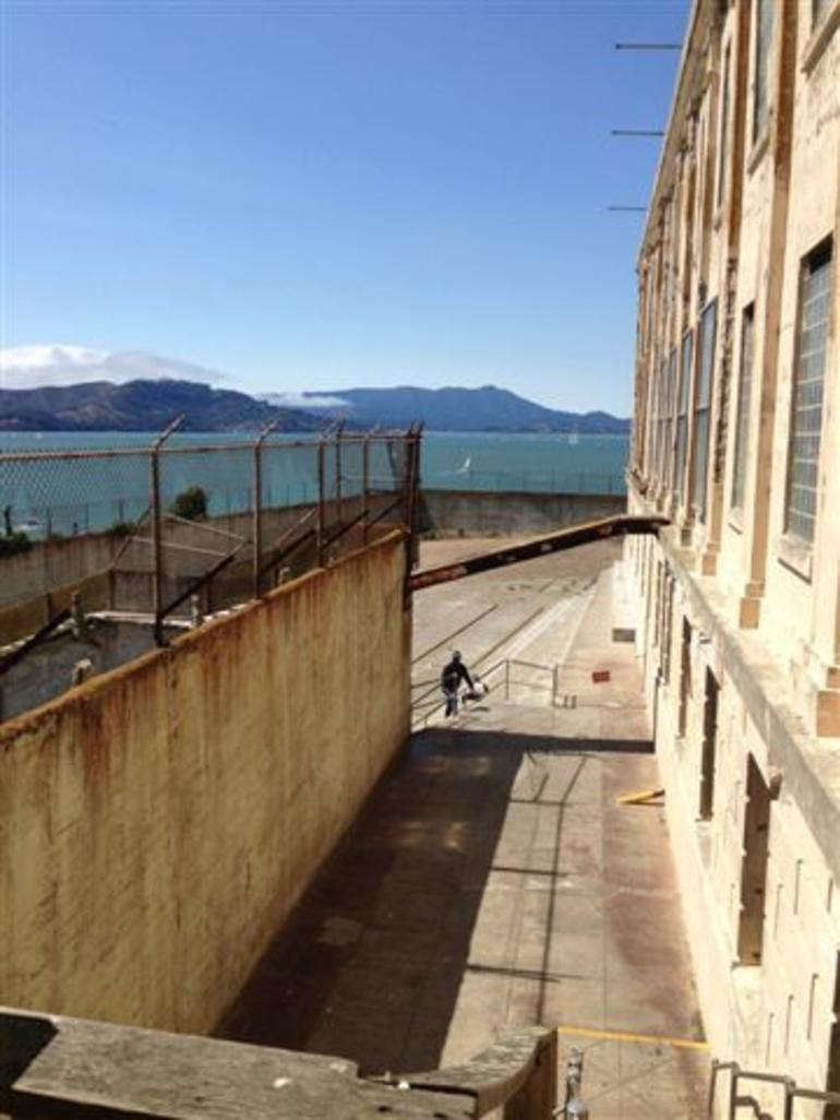 Alcatraz - looking out into and quot;play and quot; area - San Francisco
