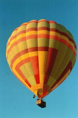 Photo of Las Vegas Las Vegas Sunrise Hot Air Balloon Ride Another balloon high in the sky