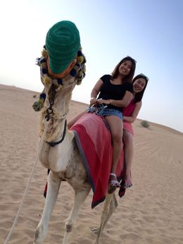This was our first camel ride with my friend, Punky. It was awesome! , roanne - May 2015
