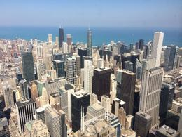 View of the John Hancock Tower and the Chicago Skyline from Willis Tower., laura s - June 2014