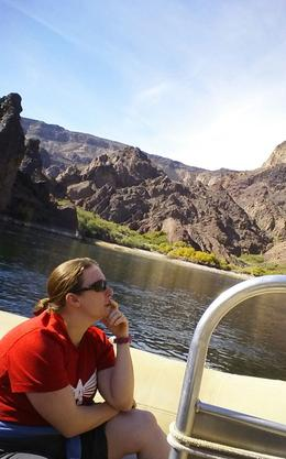 Photo of Las Vegas Black Canyon River Rafting Tour cruising down colorado river