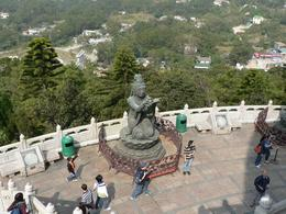 Female Maidens around Giant Buddha, Lantau, on tour by Anthony Partridge, Anthony P - December 2009