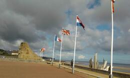 Photo of Paris Normandy D-Day Battlefields and Beaches Day Trip Flags