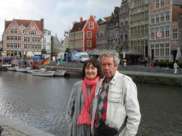 My parents and the view of flamish arhitecture of Ghent, Kristina A - September 2010