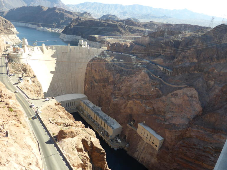 Hoover Dam from the bridge - Las Vegas
