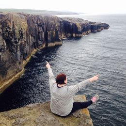 Here I am conquering my fears at Burren , Dana - June 2015