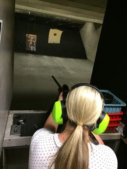 Photo of Las Vegas Viator Exclusive: Las Vegas Gun Store and Firing Range Package My better half getting practice
