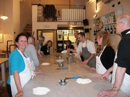 Standing around the marble table getting ready to create our masterpieces! , Ed & Barb - February 2013