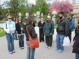 Photo of Munich Salzburg Small Group Day Tour from Munich Our tour guide talks to us in Salzburg