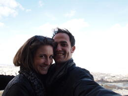 Photo of Paris Skip the Line: Eiffel Tower Tickets and Small-Group Tour Couple selfie from the Eiffel Tower
