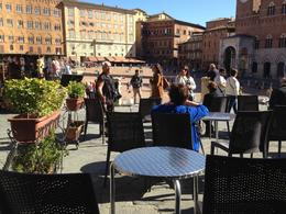 One of our stops in Siena - looking out onto the central plaza of the city. , Dawn O - November 2013
