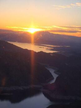 Photo of Las Vegas Grand Canyon All American Helicopter Tour Sunset approaching Lake Mead
