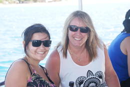 Photo of Fiji South Sea Island Day Cruise Tanja and Me on the boat over from Denerau