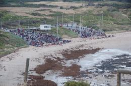 The main viewing area at Phillip Island. The small 150 person platform is off to the left., Jason Z - January 2008