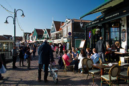 This photo was taken in Volendam after we disembarked from the Marken/Volendam ferry. Apple pie and cream were served on the ferry along with coffee. In Volendam, we were served lunch at one of the ... , Stuart S - November 2014