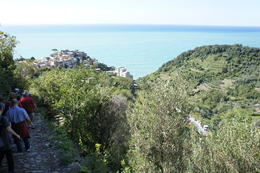Photo of Florence Cinque Terre Hiking Day Trip from Florence Walking down the trail at Cinque Terre