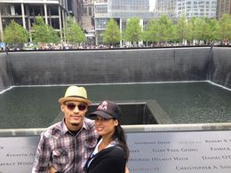 Our tour guide Jay took this great picture from us at the 9/11 memorial , Freya K - May 2016
