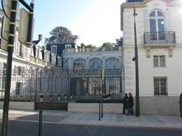 Outside the Moet & Chandon facility in Epernay, Bruce J - October 2009