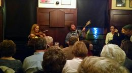 Had a great time visiting three pubs in Dublin while being entertained by these two funny, talented musicians! , Jane S - September 2015