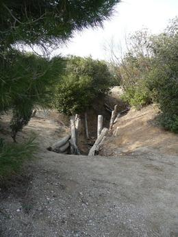 World War I-era trench in Gallipoli. - September 2008