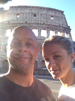 Matt and Carla outside the amazing Colosseum , Matt H - October 2014