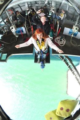 Photo of Auckland Auckland Harbour Bridge Bungy Jump I put on a brave face