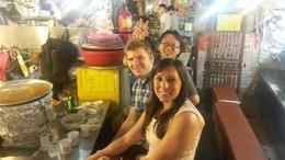 Kwang Jang Market with Dan, our tour guide , Angela D - September 2013
