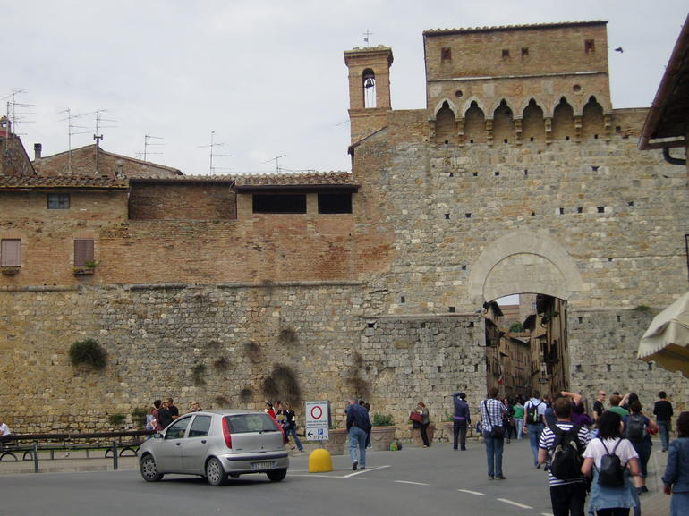Main entry of San Gimignano - Florence