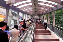 Hong Kong's long system of escalators - August 2012