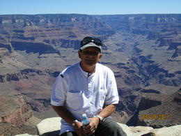 Photo of Las Vegas Deluxe Grand Canyon South Rim Airplane Tour My dad at the South Rim