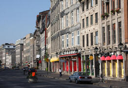 Street in Old Montreal, walking tour - May 2011