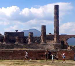 The main forum area ruins of Pompeii with Mt. Vesuvius in the background. , Anny H - September 2014