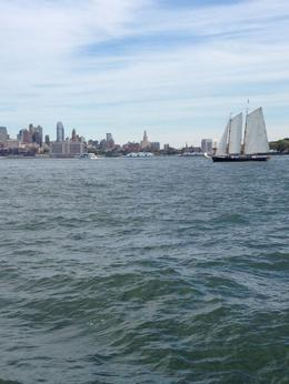 Photo of New York City Statue of Liberty Tall Ship Sailing Cruise The now distant shore
