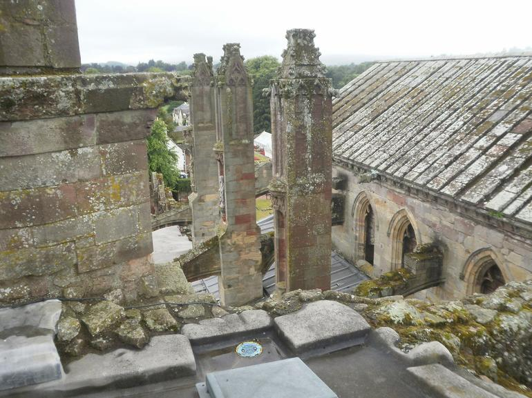 View from the top of Melrose Abbey - Edinburgh