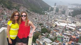 My daughter and I walked with our group to the top of the favela and then we were taken into a building with a gift shop on the top floor. This amazing view was taken from the balcony. , joanne.jacobs - September 2015