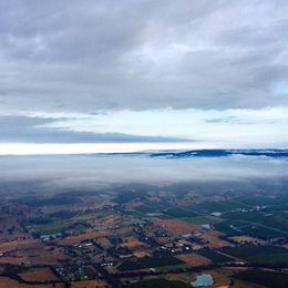 Photo of Melbourne Yarra Valley Balloon Flight at Sunrise View over a cloudy Yarra Valley.
