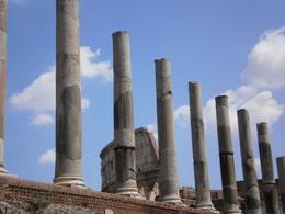 Photo of Rome Skip the Line: Ancient Rome and Colosseum Half-Day Walking Tour walking fro forum to coliseo