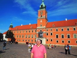 Patrick in the square in Warsaw. , Wendy J - October 2013