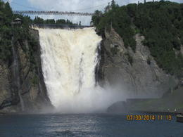Photo of Quebec City Half-Day Trip to Montmorency Falls and Ste-Anne-de-Beaupré from Quebec Breathtaking jaw dropping falls