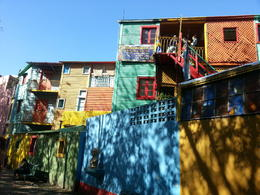 Some of the buildings in La Boca! Very colourful and amazing for photos! , Shannon - May 2013