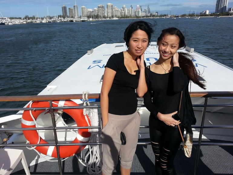 Enjoying our Gold Coast lunch cruise