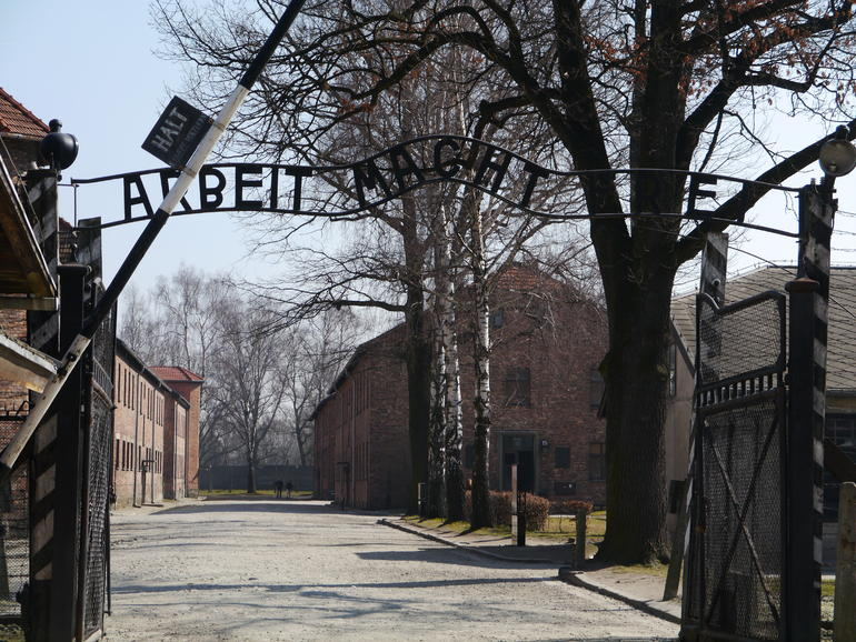 Entrance to Auschwitz - Krakow