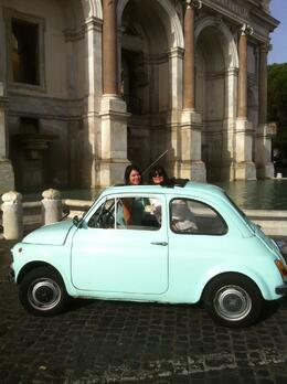 Photo of Rome Private Tour: Rome Sightseeing by Vintage Fiat 500 In the square