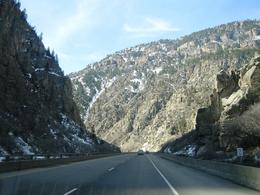 Driving along I-70 through the Rockies, west of Denver , Leah - May 2011