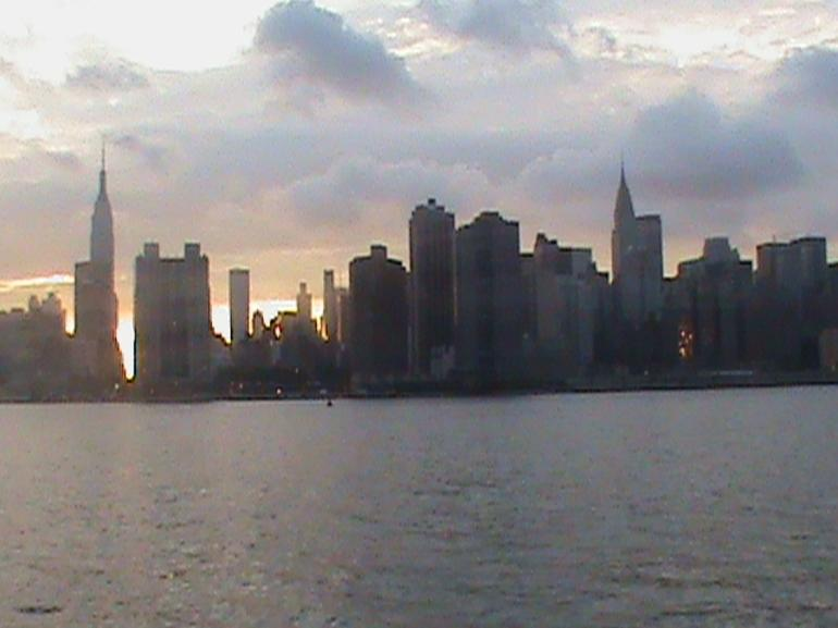 The view from Midtown Manhattan at sunset