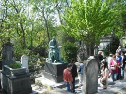 Looking at the many famous graves, Frances - October 2010
